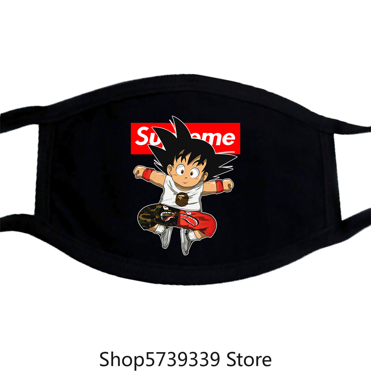 Super Dbz Hypebeast Baby Goku Youth Mask Size Unisex Tee Adults Kids Xs-3Xl Washable Reusable Mask With
