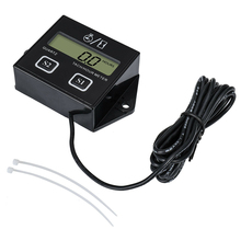Digital Engine Tach Hour Meter Tachometer Gauge RPM LCD Display For Motorcycle Motor Stroke Car Boat