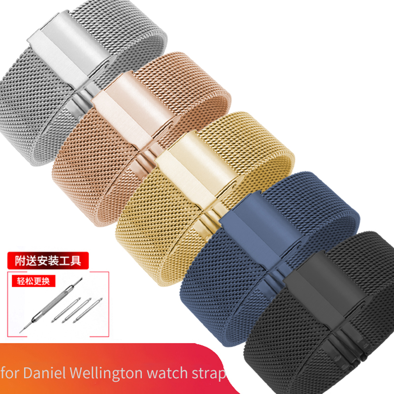 Milanese Loop <font><b>Watch</b></font> <font><b>Strap</b></font> 17/18/19/20 <font><b>mm</b></font> <font><b>Watch</b></font> Band for DW for Daniel Wellington Stainless Steel Band <font><b>12</b></font>/13/14/16/22 <font><b>mm</b></font> image