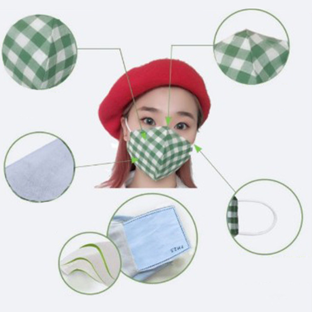 2pcs Cotton PM2.5 Mouth Mask Anti Dust Mask Activated Carbon Filter Windproof Mouth-Muffle Bacteria Proof Flu Face Masks Care 4