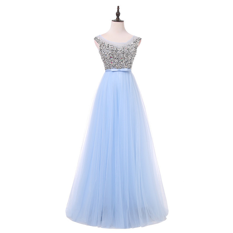 BM 2019 New Sexy Long Prom Dresses Beaded Lace Up Appliques Women Formal Evening Occasion Dress BM201