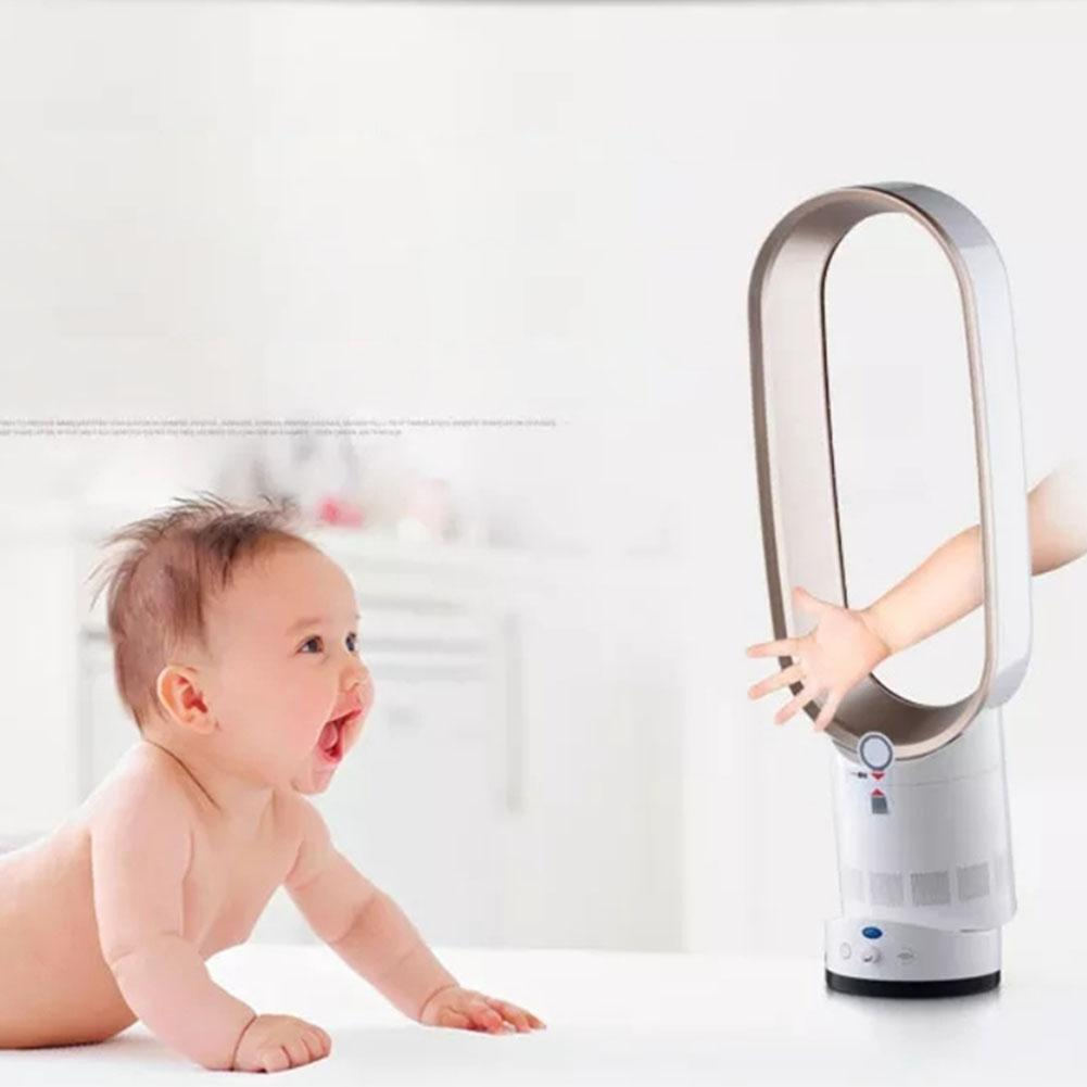 Ultra-quiet, Leafless Landing Fan, Low Noise Air Purification, Safe And Comfortable Electric Fan For Children At Home