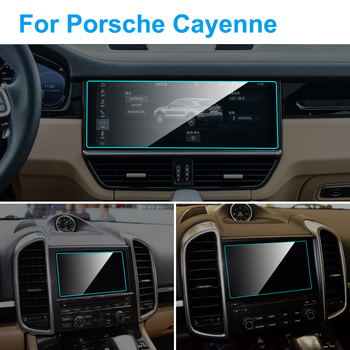 Car GPS Navigation Screen Protector for Porsche Cayenne Interior Tempered Glass Screen Protector Car Styling Auto Accessories image