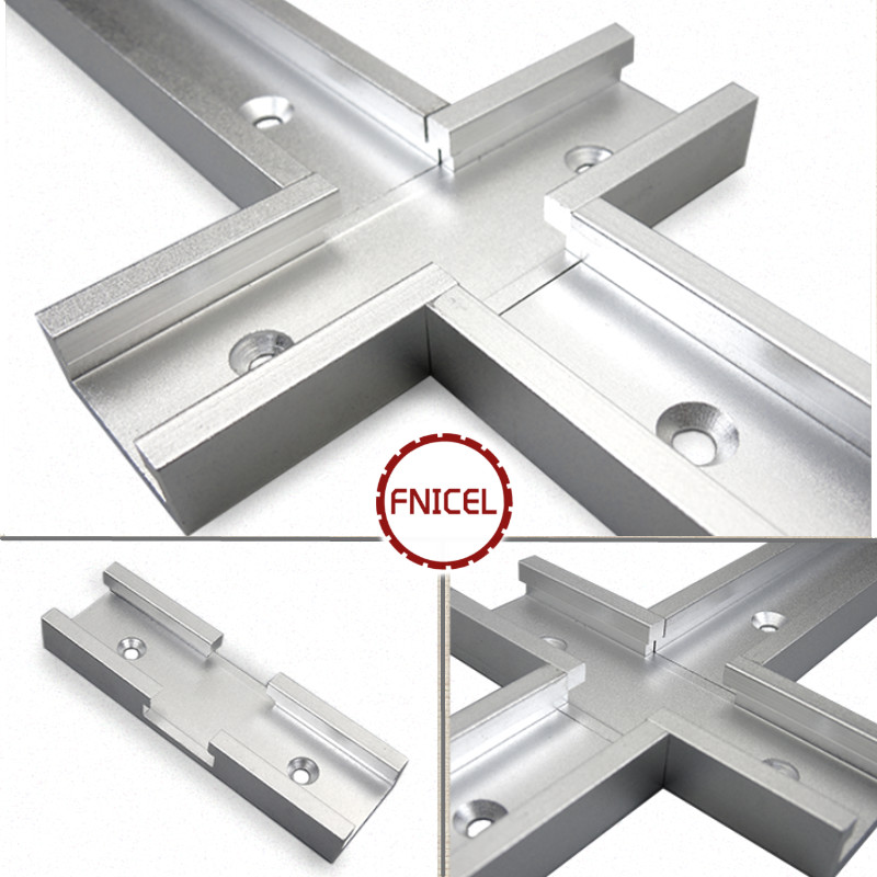 1Pc T-Track Intersection Parts Chute General Purpose Handle Aluminum Woodworking DIY T Track Cross