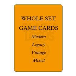 8.0 WHOLE SET 56PCS/LOT Black Core Modern/Legacy/Vintage/Lands Set Mixed Black Lotus TOP Quality PROXY Playing Cards Board Games