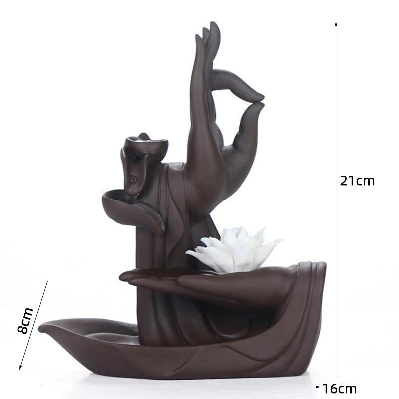 Cascada zen con flor de loto 5