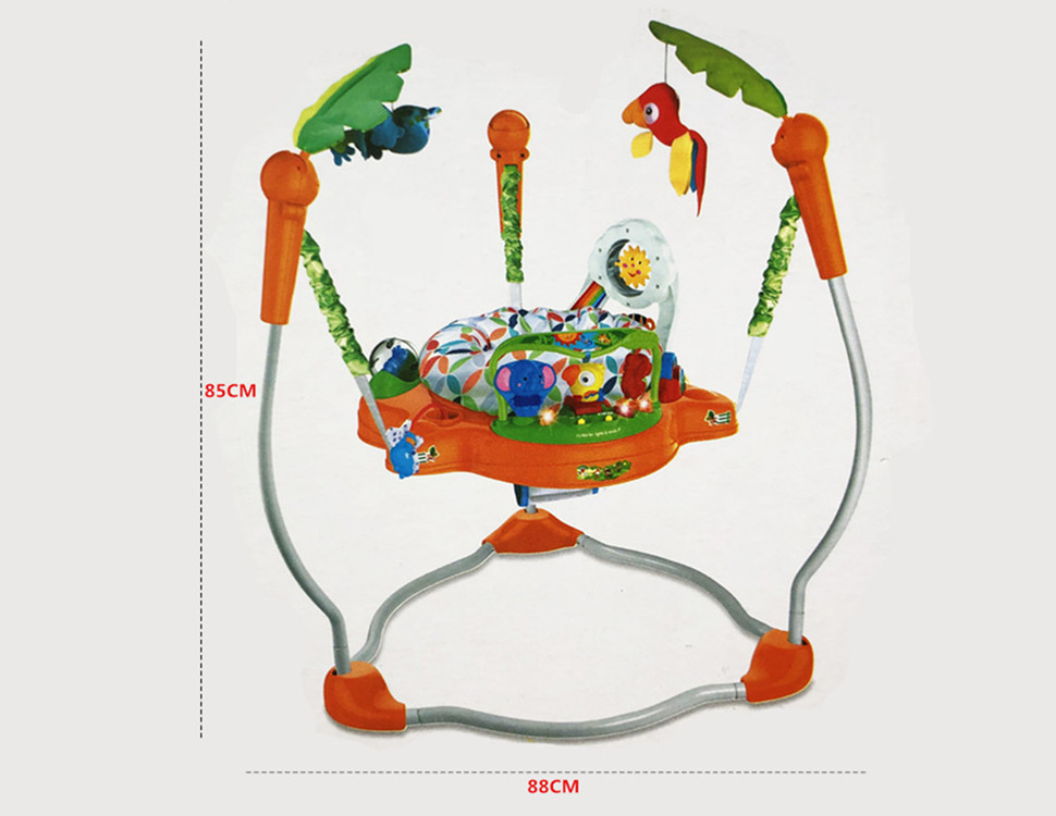 H19e7d0ea3a664d718c0ce9d6a0baa85du Multifunctional Electric Baby Jumper Walker Cradle Tropical Forest Baby Swing Rocking Body Child bouncer Swing Fitness Chiar