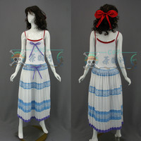 Game Final Fantasy VII:Advent Children Aerith Gainsborough Cosplay Costume Sexy Slip Dress Party Role Play Clothing Custom Make