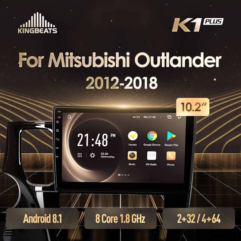 Kingbeats Android 8 Head Unit 4G In Dash Auto Radio Multimedia Video Player Navigatie Gps Voor Mitsubishi Outlander 3 2012 2018