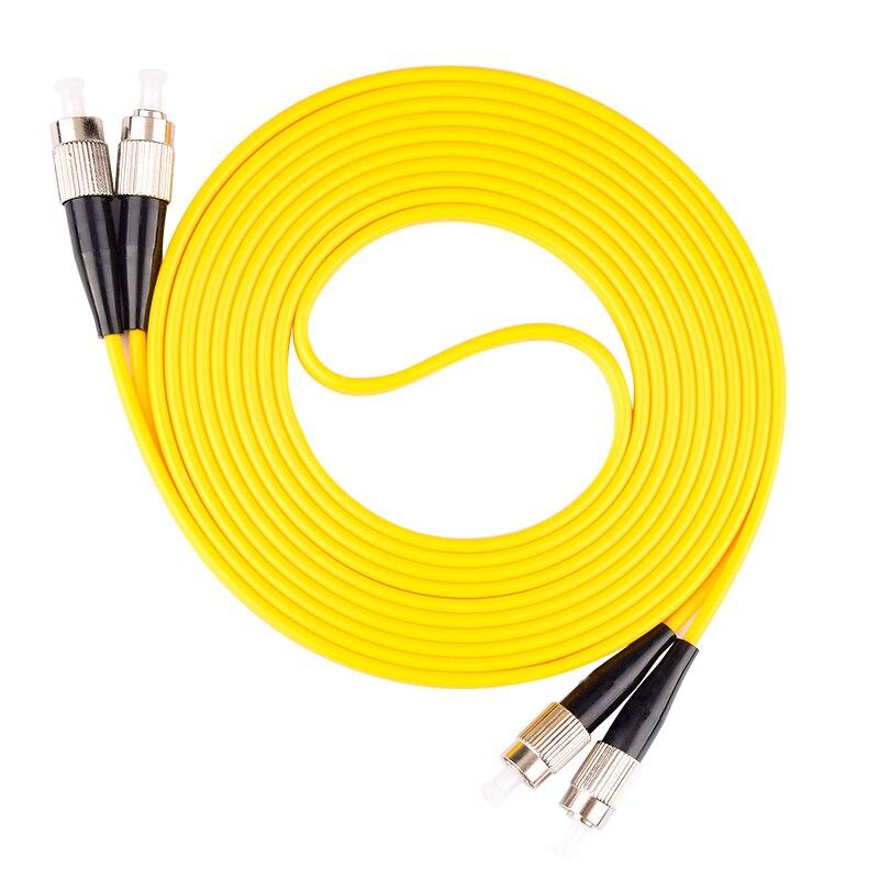 10 шт. FC UPC 3 метра/5 метров/10 метров 9/125 дуплексный одномодовый волоконно-оптический патч-корд кабель