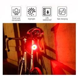 Mini rowerów tylne światła rowerów Bike tylne światła Taillight USB ładowalna latarka światła ostrzegawcze bezpieczeństwa jazda na rowerze akcesoria czerwony kolor