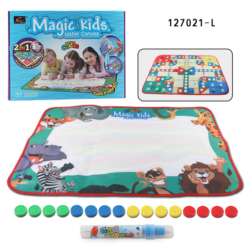 Children Creative Color Magic Water Canvas Aeroplane Chess-in-Game Blanket Educational Board Game Parent And Child Interactive G