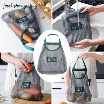 1pc Reusable Vegetable Mesh Bag Net Fruit Garlic Onion Grocery Bags Organic Food Organizer Case Eco Friendly Shopping Tote Handb image