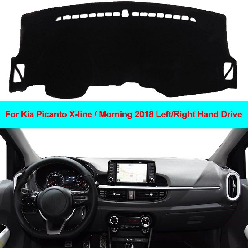 2 Layers Car Auto Dashboard Cover Carpet Cape Dash Mat Dashboard Pad Anti-UV For Kia Picanto X-line / Morning 2018 LDH RHD