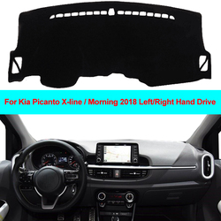 2 warstwy samochodów Auto pokrywa deski rozdzielczej dywan Cape mata na deskę rozdzielczą deska rozdzielcza Pad Anti UV dla Kia Picanto x line/Morning 2018 LDH RHD w Wycieraczki samochodowe od Samochody i motocykle na