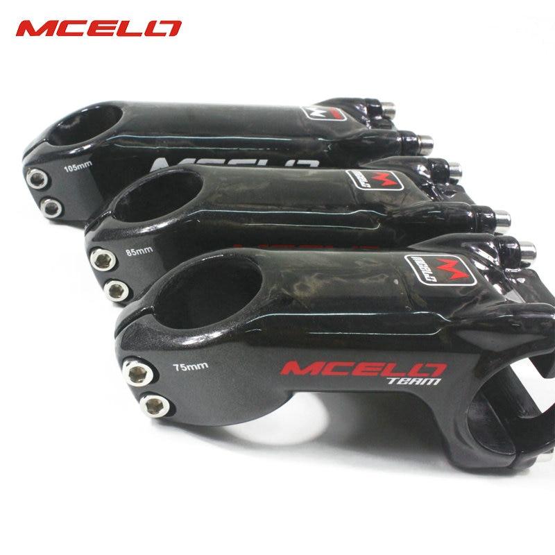 Bicicleta de fibra de carbono bicicleta de tallo ultraligero manillar 31,8mm 75/85/105mm MTB bicicleta de carretera vástago de 25 grados para ciclista profesional - 3
