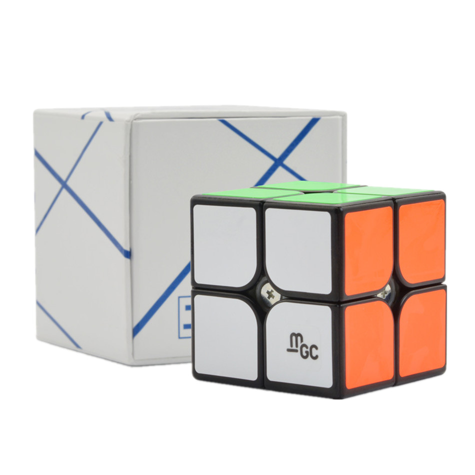 Original YJ MGC 2x2 Magnetic Magic Cube Yongjun MGC 2*2 Speed Cube For Brain Training Toys For Children Kids Speed Cubo Magico