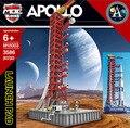 Набор строительных блоков Apollo Saturn V Launch, пусковая башня, космический корабль, экспедиция, городская игрушка