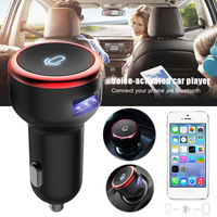 dropshipping Bluetooth Car Voice Control MP3 Player Wireless Bluetooth Receiver USB Charger OE88