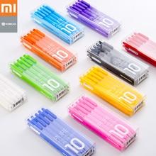 10pc Original Xiaomi Mijia Kaco Pen 0.5mm Gel Pen Signing Pen Core Durable Signing Pen Refill Smooth Writing Stationery Supplies