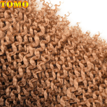 TOMO Passion Twist Crochet Hair Synthetic Braiding Hair Extensions 14 18 22Inch 22Strands Spring Twist 80g/Pack Long Black Brown 5