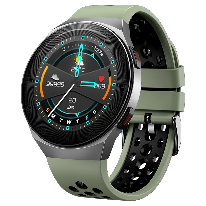 smart watches men 1.28inch 240*240 Full touch screen 8G memory 1500 songs Interactive Music Heart Rate Tracker Smartwatch man