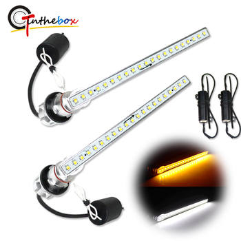 Dual-color Amber/ White Sequential Flowing LED Front Turn Signal Light /DRL Strips For Alphard /Vellfire 30 series previous term