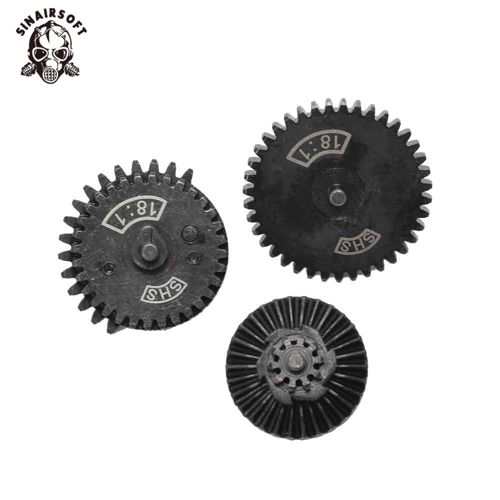 SHS Steel Helical Reinforcement Low Noise High Torque Gear Set For Ver2/3 AEG Gearbox Hunting Army Paintball Game Accessories
