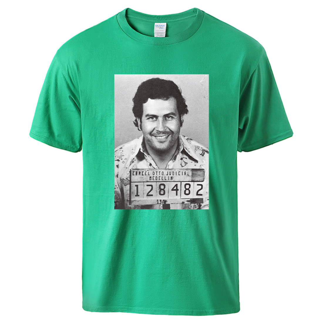 GODFATHER MAFIA MENS T SHIRT WITH EL CAPON SHORT SLEEVE GANGSTER COCAIN TEE