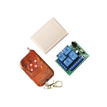 433Mhz Universal Wireless Switch DC12V 4CH Relay Receiver Module with 4Channel RF Remote Control 433 Mhz1527Llea