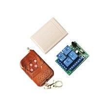 Interruptor inalámbrico Universal 433 Mhz DC12V 4CH módulo receptor por relé con Control remoto RF de 4 canales 433 Mhz1527Llea