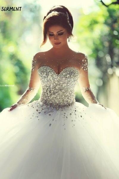 SERMENT The Main Wedding Dress New Tail Dress Female Bride Wedding Princess Simple Thin Word Shoulder Light Wedding Super Fairy
