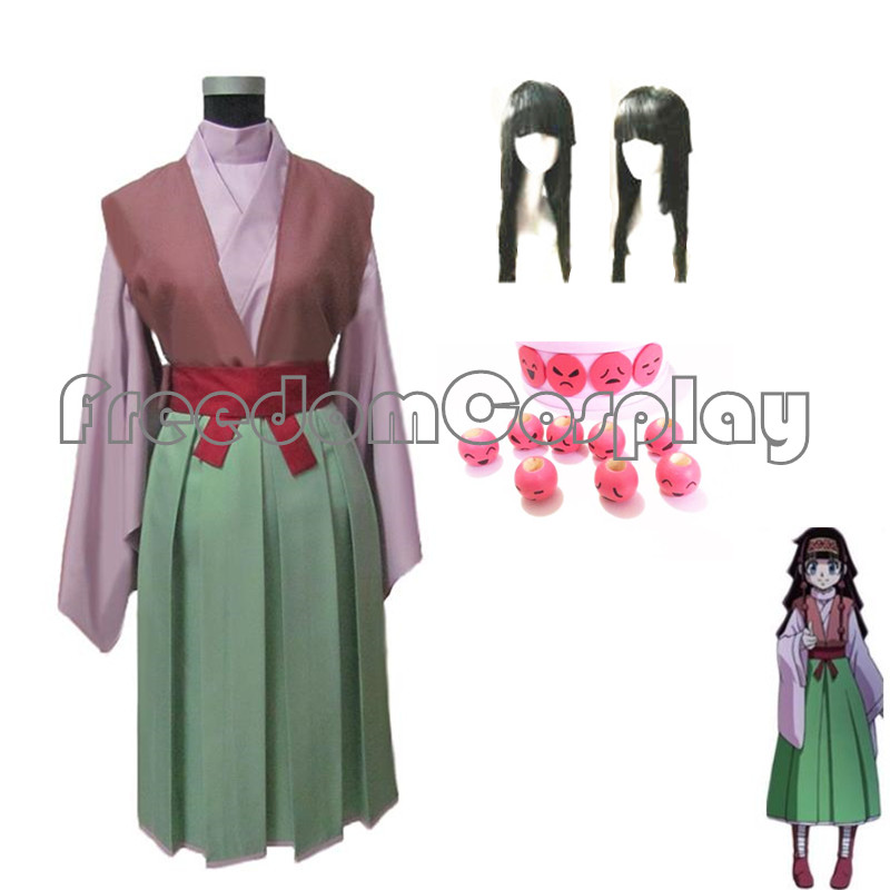 Hunter x hunter alluka zoldyck aruka cosplay traje com acessórios para o cabelo