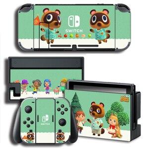 Image 5 - עור כיסוי מדבקה לעטוף עבור Animal Crossing מדבקות w/קונסולה + שמחה קון + טלוויזיה Dock עורות עבור nintendo מתג עור צרור