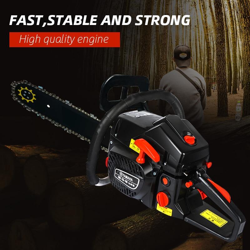 5000W Gasoline Chainsaw Wood Pruning Cutting Logging Chain Saws Power Tools Gas Gasoline Powered Chainsaw 68CC