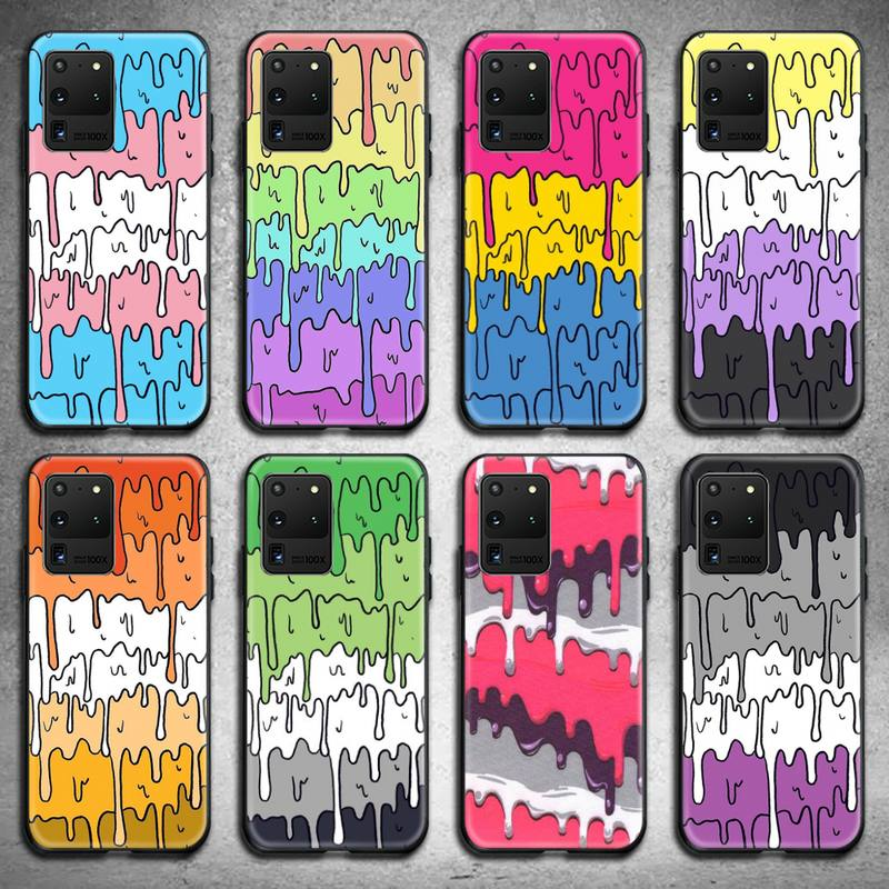 Пастельный симпатичный плавильный чехол для телефона с дизайном для Samsung Galaxy S21 Plus Ultra S20 FE M11 S8 S9 plus S10 5G lite 2020