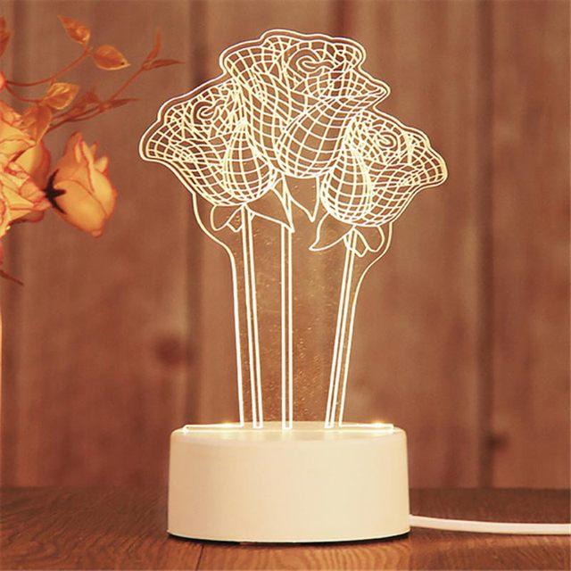 3d светодиодный ночник неоновые огни креативная светодиодная фотография