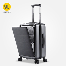 Suitcase Luggage Hardshell 90 Ninetygo Spinner Wheels Bussiness 20inch with Front-Cover