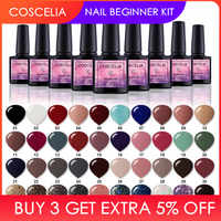New Free Shipping Nail Art Design Manicure COSCELIA 40Color 8Ml Soak Off Enamel Gel Polish UV Gel Nail Polish Varnish