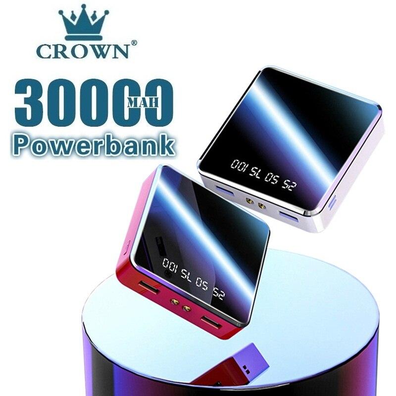 20000mAh Power Bank Protable Outdoor Travel Charger LCD Digital Display LED Lighting Powerbank Phone
