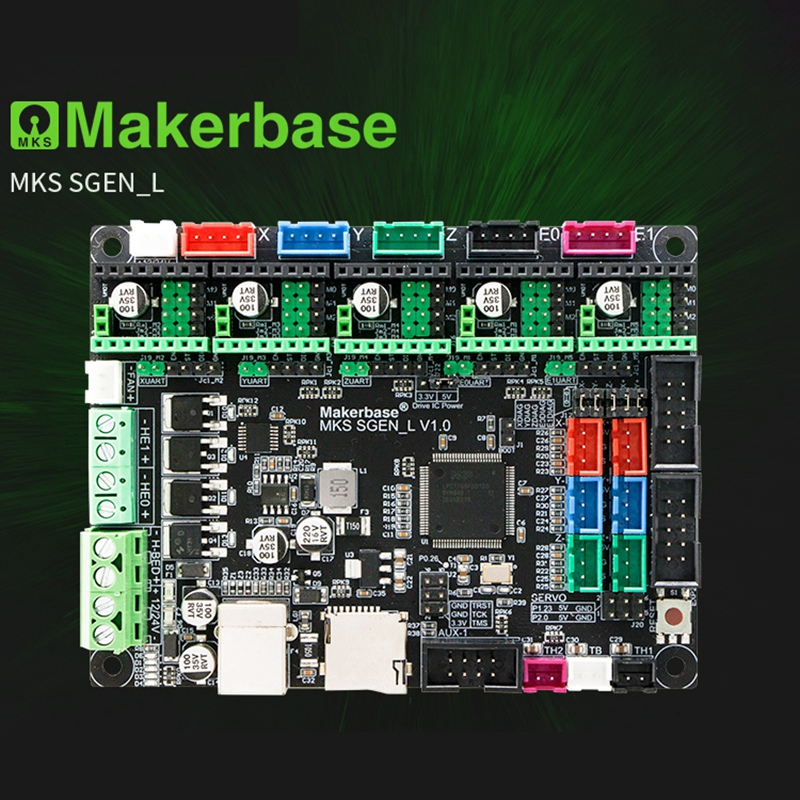 Makerbase MKS SGen L 3D Printer Motherboard 32-Bit Controller Compatible with Marlin 2.0 Smoothie Fi