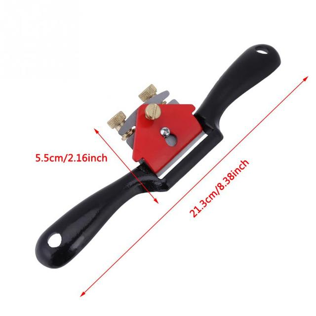 """New 9"""" Adjustable Plane Spokeshave Woodworking Hand Planer Trimming Tools Wood Hand Cutting Edge Chisel Tool with Screw"""