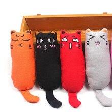 """1 шт., игрушка для кошек, забавный интерактивный плюшевый Кот, игрушка для домашних животных, котенок, жевательная игрушка, когти, кусая кошка, мята для кошек, игрушка """"зубы"""""""