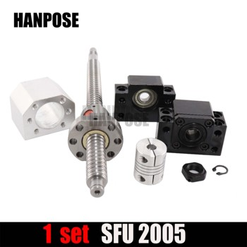 Conjunto Cnc: Rm2005 Bola Porca + 20mm Bola Parafuso Sfu2005 Final Usinado + Bk15 Bf15 Apoio Final + Acoplador 6.35x12mm Para 2005