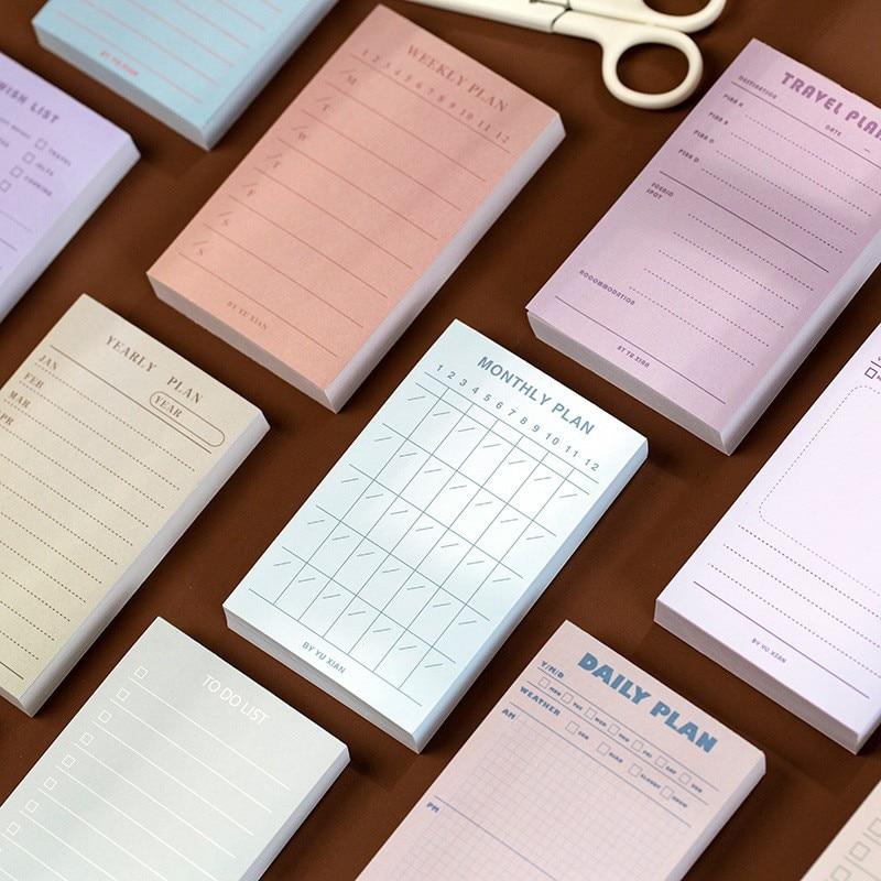 100 листов еженедельно ежедневник бумаги для заметок на клейкой основе наклейки To Do List Memo Pad индекс вкладки закладки Memo блокнот для заметок на...