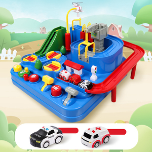Racing Rail Car for Kids Model Racing Educational Toy Children Track Car Brain Game Mechanical Toys Transparent Adventure Game