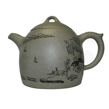 Yixing zisha teapot 230ml Chinese kungfu Tea pots qinquan Green clay handmade Soak Puer Dahongpao Tie Guan yin kettle teaware