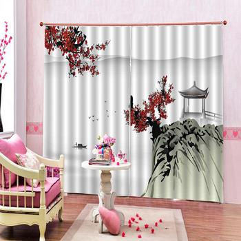 chinese curtains Luxury Blackout 3D Window Curtains For Living Room Bedroom Customized size stereoscopic curtains