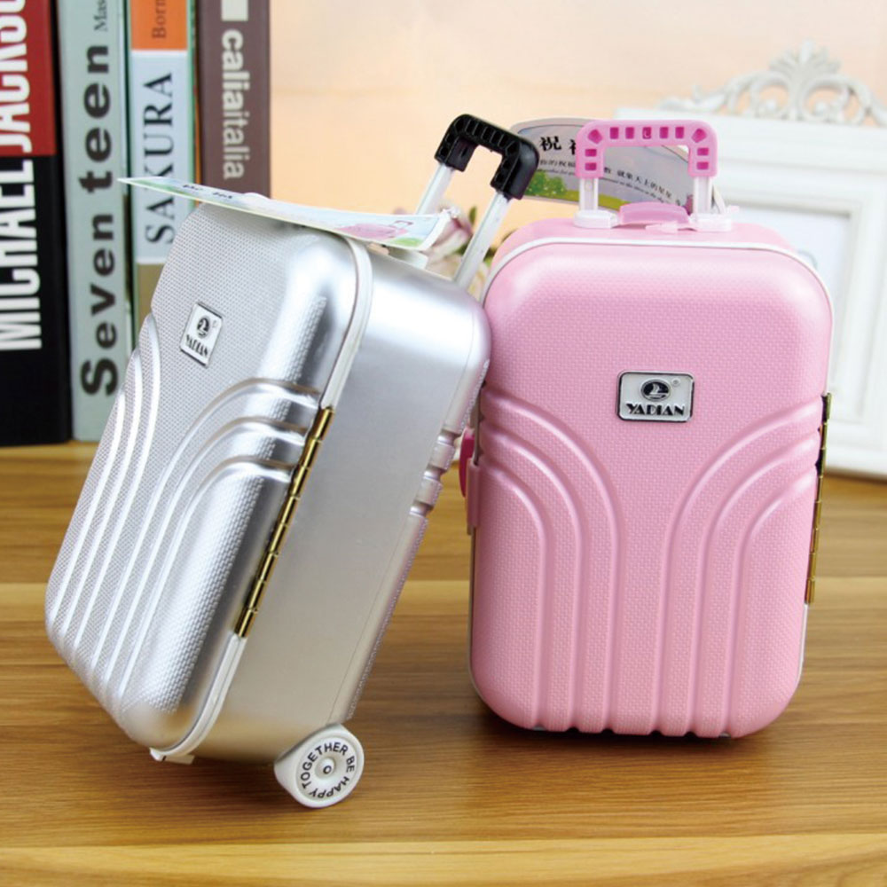 Personality Creative Piggy Bank Large Capacity Piggy  Coin Money Bank Unique Plastic Luggage Suitcase Storage Box Birthday Gifts