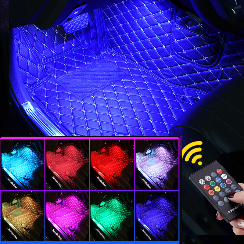Audio-controlled Ambience Lamp LED Ambience Music Rhythm Car Car Car-mounted Foot Decor Lamp Car-mounted Ambience Lamp LED Inter